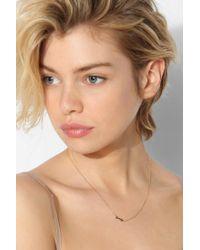 Urban Outfitters - Metallic Adina Reyter Tiny Arrow Necklace - Lyst