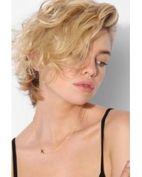 Urban Outfitters - Metallic Adina Reyter Tiny Stacked Cross Necklace - Lyst