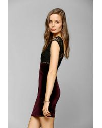 Urban Outfitters | Purple One Only X Urban Renewal Lacetop Velvet Dress | Lyst