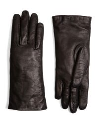 Brooks Brothers | Black Cashmere Lined Leather Gloves | Lyst