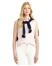 Brooks Brothers - Pink Non-iron Fitted Sleeveless Dress Shirt - Lyst