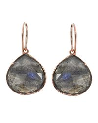 Irene Neuwirth - Gray Rose Cut Labradorite Drop Earrings - Lyst
