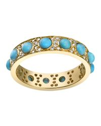 Irene Neuwirth | Blue Turquoise And Diamond Ring | Lyst