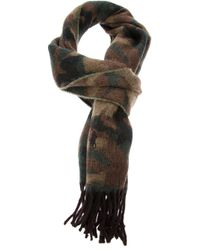 Ralph Lauren Blue Label | Green Camouflage Scarf for Men | Lyst