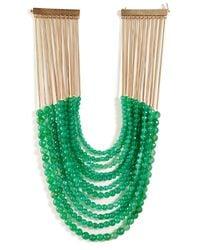 Rosantica - Raissa Necklace with Green Jade - Lyst