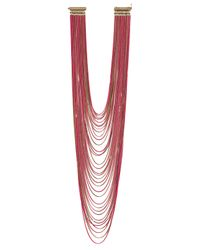 Rosantica - Millefili Necklace with Fluo Pink Chains - Lyst