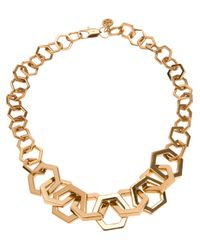Tory Burch | Metallic Chain Necklace | Lyst