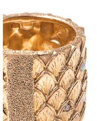 Carolina Bucci - Metallic Diamond Opal and Gold Feather Ring - Lyst