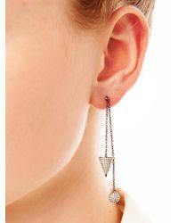 Elise Dray - Metallic Diamond & Gold Muse Chain Earrings - Lyst