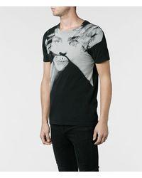 AllSaints - Black Process Band Crew Tshirt for Men - Lyst