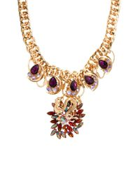 ASOS - Metallic Premium Dragon Charm Necklace - Lyst