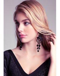 Bebe - Black Statement Earrings - Lyst