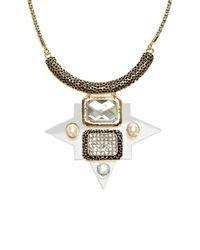 Coast - Brown Milton Perspex Necklace - Lyst