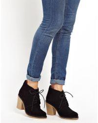 Louise Amstrup   Faith Black Suede Sand Hurst Lace Up Ankle Boots   Lyst