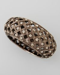 Jose & Maria Barrera - Metallic Crystal-Encrusted Lattice Bracelet - Lyst