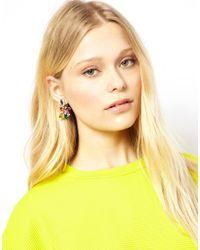 ASOS - Multicolor Love Rocks Multicolour Rhinestone Chandelier Earrings - Lyst