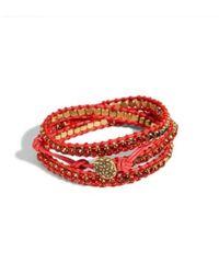 Lucky Brand - Red Rhinestone Wrap Bracelet - Lyst