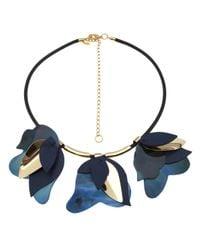 Marni | Blue Layered Leaf Necklace | Lyst
