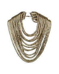 TOPSHOP | Metallic Premium Mega Multi Row Collar | Lyst