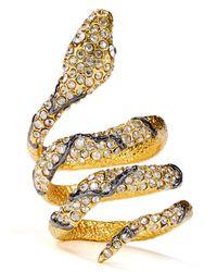 Alexis Bittar - Metallic Crystal Encrusted Snake Ring - Lyst