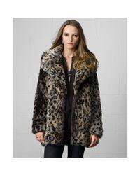 Denim & Supply Ralph Lauren - Multicolor Faux Lynx Officers Coat - Lyst