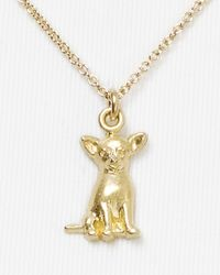 Dogeared - Metallic Chihuahua Pendant Necklace  - Lyst
