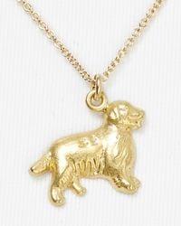 Dogeared - Metallic Golden Retriever Pendant Necklace  - Lyst