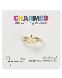 Dogeared - Metallic Infinity Ring - Lyst