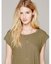 Free People - Purple Delicate Long Rosary - Lyst