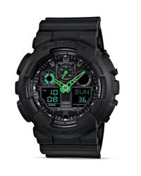 G-Shock   Black Neon Highlights Ana-digi Stainless Steel And Resin Strap World Time Watch for Men   Lyst