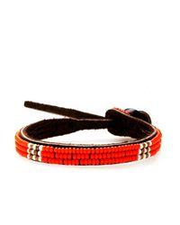 Henri Bendel - Orange Chan Luu Single Seed Bead Efi Bracelet - Lyst