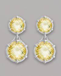 Judith Ripka - Metallic Eclipse Earrings - Lyst