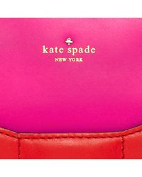 kate spade new york - Red 2 Park Avenue Beau Leather Tote - Lyst