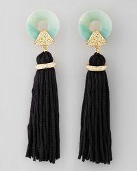 Rachel Zoe | Metallic Amazonite Tassel Earrings | Lyst