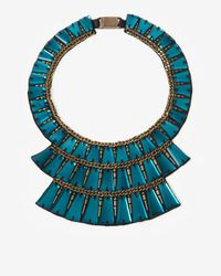 Ranjana Khan - Multicolor Tiered Embellished Collar Turquoise - Lyst