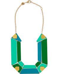 Tatty Devine | Green Jewel Cut Statement Perspex Necklace | Lyst