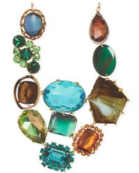 Tatty Devine | Multicolor Jewel Print Statement Perspex Necklace | Lyst