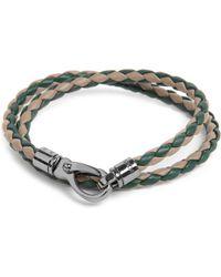 Tod's | Green Bicolour Plaited Bracelet for Men | Lyst