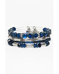 ALEX AND ANI | Blue Equinox Expandable Wire Bangles | Lyst