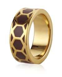 Astley Clarke | Metallic Cappuccino Honeycomb Ring | Lyst