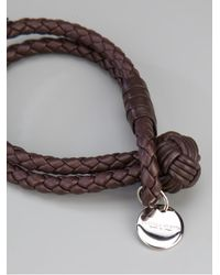 Bottega Veneta | Brown Intrecciato Leather Bracelet | Lyst