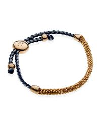 Links of London | Pink 18ct Gold-plated Mini Friendship Bracelet | Lyst