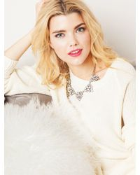 BaubleBar - Metallic Crystal Holly Necklace - Lyst