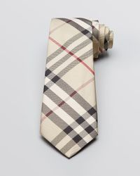 Burberry - Natural London Classic Small Scale Check Woven Classic Tie for Men - Lyst