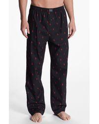 Polo Ralph Lauren | Black Cotton Lounge Pants for Men | Lyst