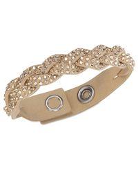 Swarovski | Metallic Slake Braid Bracelet | Lyst