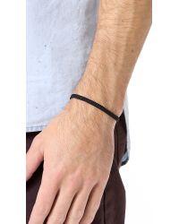 Yuvi | Black Japanese Cord Bracelet for Men | Lyst