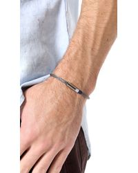 Yuvi | Gray Silver Mesh Bracelet with Two Tone Cord for Men | Lyst