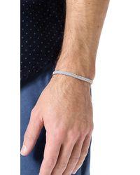 Yuvi - Gray Japanese Cord Bracelet for Men - Lyst