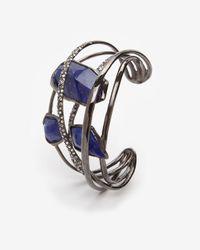 Alexis Bittar - Blue Custom Lapis Five Ring Cuff Bracelet - Lyst